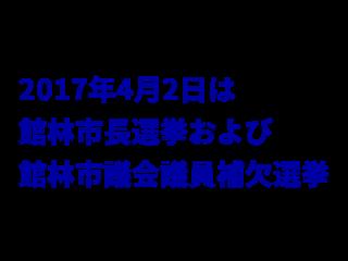 館林市長選挙および館林市議会議員補欠選挙候補者情報(2017年4月2日投票)