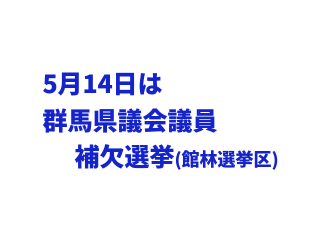 館林市長選挙の次は群馬県議会議員補欠選挙(2017.5.14投票)