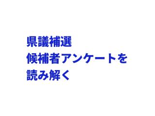 県議補選、上毛新聞の候補者アンケートを読み解く