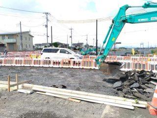 西部一号線工事の片側交互通行、通行車線が変更になっているので気をつけて!