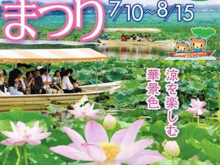 【花と緑のまち】7月10日からは花ハスまつり
