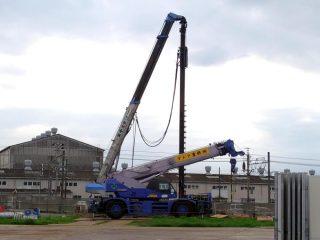 給食センターの建設工事が始まる