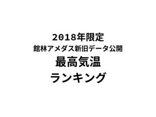 館林新旧アメダスデータ・最高気温ランキング編