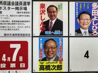 群馬県議会議員選挙(館林市選挙区)情報(2019年4月7日投票)