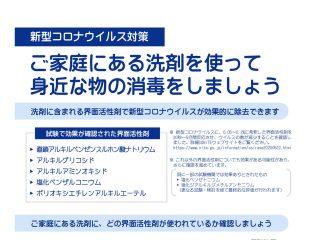新型コロナウイルスに効果のある洗剤リスト