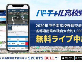 高校野球独自大会を「SPORTS BULL」でライブ配信!群馬県大会は7月18日から!